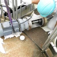 攪拌機のメカシール及び関連部品交換